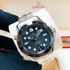OMEGA Seamaster Diver 300M 42mm Steel-Rose Gold Black Dial Automatic 210.20.42.20.01.001