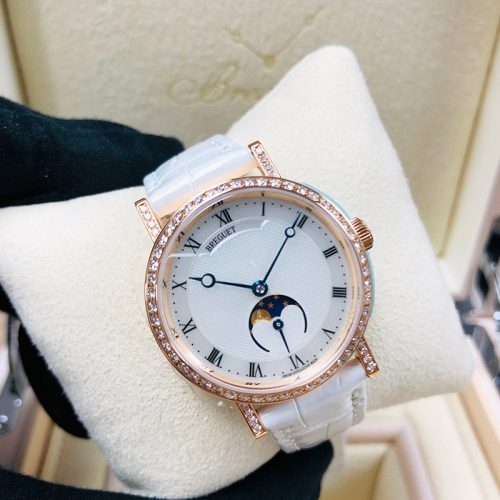 BREGUET Classique 30mm 18K Rose Gold White Mother of Pearl Automatic 9088BR/52/964/DD0D