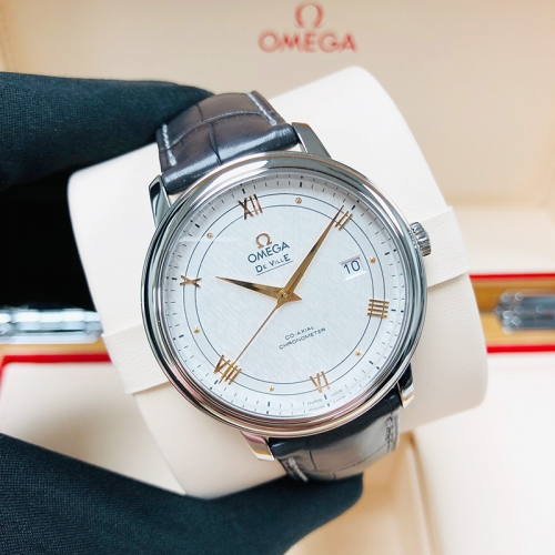 OMEGA De Ville Prestige 39.5mm Stainless Steel Silver Dial Automatic 424.13.40.20.02.005