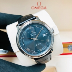 OMEGA De Ville Prestige 39.5mm Stainless Steel Blue Dial Automatic 424.13.40.20.03.002
