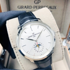 GIRARD PERREGAU 1966 Stainless Steel 40mm Silver Dial Automatic 49545-11-131-BB60