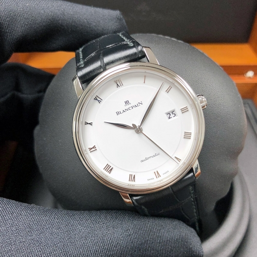 Blancpain Villeret 38mm Stainless Steel White Dial Automatic 6223-1127-55B