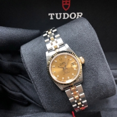 Tudor Prince Date 25mm Steel-Yellow Gold Champagne Dial Automatic M92413-0006