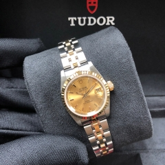 Tudor Prince Date 25mm Steel-Yellow Gold Champagne Dial Automatic M92413-0009