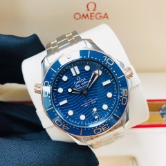 OMEGA Seamaster Diver 300M 42mm Steel-Rose Gold Blue Dial Automatic 210.20.42.20.03.002