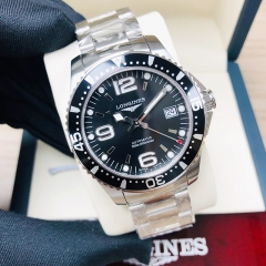 LONGINES Hydroconquest 39MM Stainless Steel Black Dial Automatic L37414566