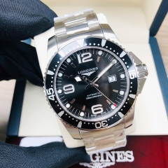 LONGINES Hydroconquest 41MM Stainless Steel Black Dial Automatic L38414566