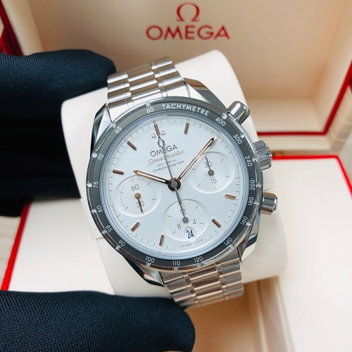 OMEGA Speedmaster 38mm Stainless Steel White Dial Automatic 324.30.38.50.02.001