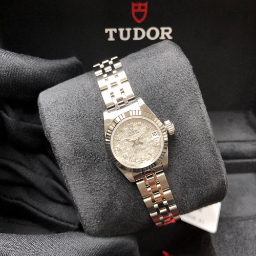 Tudor Princess Date 22mm Steel-White Gold Silver Mosaic Dial Automatic M92514-0005