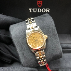 Tudor Princess Date 25mm Steel-Yellow Gold Champagne Mosaic Dial Automatic M92413-0019