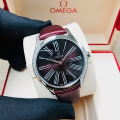 OMEGA De Ville Tresor 36mm Stainless Steel Red Dial Quart 428.18.36.60.11.001