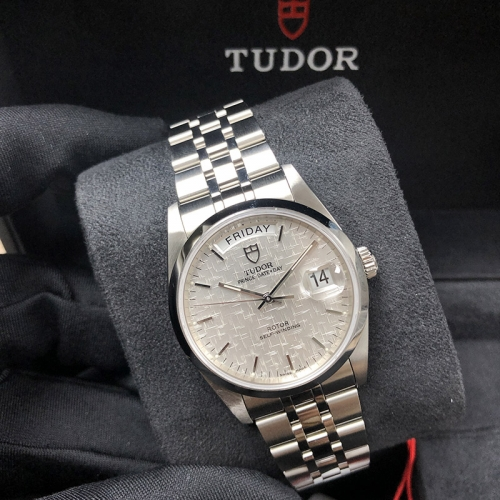 Tudor Prince Date Day 36mm Stainless Steel Silver Mosaic Dial Automatic M76200-0011