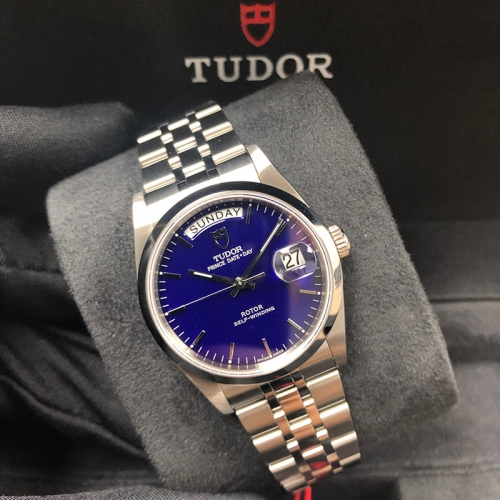 Tudor Prince Date Day 36mm Stainless Steel Blue Dial Automatic M76200-0008