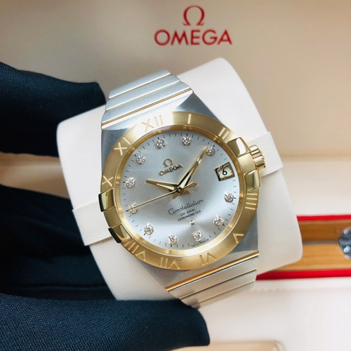 OMEGA Constellation 38mm Steel-Yellow Gold Silver Dial Automatic 123.20.38.21.52.002