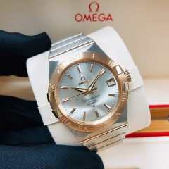 OMEGA Constellation 38mm Steel-Rose Gold Silver Dial Automatic 123.20.38.21.02.001