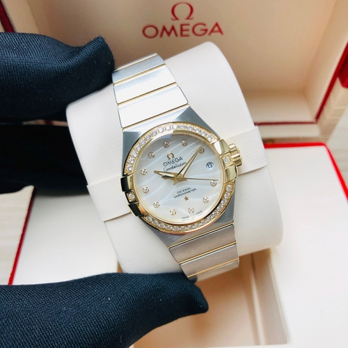 OMEGA Constellation 27mm Steel-Yellow Gold White Dial  Automatic  123.25.27.20.55.004