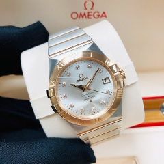 OMEGA Constellation 35mm Steel-Rose Gold Silver Dial Automatic 123.20.35.20.52.001