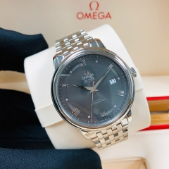 OMEGA De Ville Prestige 39.5mm Stainless Steel Grey Dial Automatic 424.10.40.20.06.001