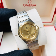 OMEGA Constellation 28mm Steel-Yellow Gold Champagne Dial Quartz 131.20.28.60.58.001