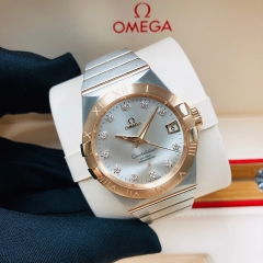 OMEGA Constellation 38mm Steel-Rose Gold Silver Dial Automatic 123.20.38.21.52.001