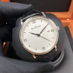 Blancpain Villeret 40mm Stainless Steel White Dial Automatic 6651-1143-55B