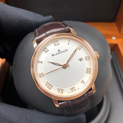 Blancpain Villeret 40mm Rose Gold White Dial Automatic 6651-3642-55B