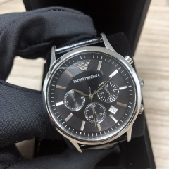 ARMANI Emporio 43MM Stainless Steel Black Dial Quartz AR2447