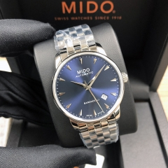 MIDO BARONCELLI 38MM Stainless Steel Blue Dial Automatic M8600.4.15.1