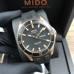 MIDO Ocean Star 42.5MM Stainless Steel With Rose Gold PVD Coating Black Dial Automatic M026.430.37.051.00