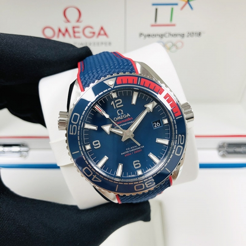 "OMEGA Olympic Games Collection ""Pyeong Chang 2018""43.5MM Stainless Steel Blue Dial Automatic 522.32.44.21.03.001"