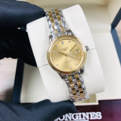 LONGINES  Flagship 26MM Stainless Steel With Yellow Gold PVD Coating Champagne Dial Automatic L4.274.3.37.7
