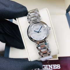 LONGINES Longines Primaluna 26,5MM Stainless Steel White Mother Of Pearl Dial Automatic L8.111.4.87.6