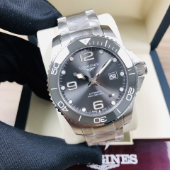 LONGINES Hydroconquest 41MM Stainless Steel Gray Dial Automatic L3.782.4.76.6