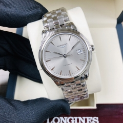LONGINES Flagship 35.5MM Stainless Steel Silver Dial Automatic L4.774.4.72.6