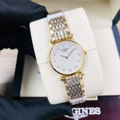 LONGINES La Grande Classique De 24MM Stainless Steel With Yellow Gold PVD Coating Mother of Pearl Dial Quartz L4.209.2.87.7