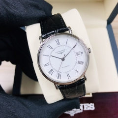 LONEGINES Presence 34.5MM Stainless Steel White Dial Automatic L4.821.4.11.2