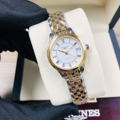 LONGINES  Flagship 26MM Stainless Steel With Yellow Gold PVD Coating White Dial Automatic L4.274.3.21.7