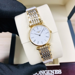 LONGINES La Grande Classique De 24MM Stainless Steel With Yellow Gold PVD Coating White Dial Quartz L4.209.2.11.7