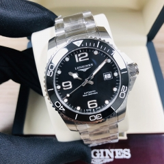 LONGINES Hydroconquest 41MM Stainless Steel Black Dial Automatic L3.781.4.56.6