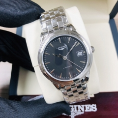 LONGINES Flagship 35.5MM Stainless Steel Black Dial Automatic L4.774.4.52.6
