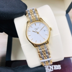LONGINES  Longines Lyre 25MM Stainless Steel With Yellow Gold PVD Coating White Dial Quartz L4.259.2.12.7