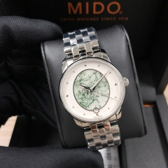 MIDO Baroncelli 33MM Stainless Steel  White Dial Automatic M035.207.11.481.00