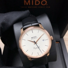 MIDO Baroncelli 39MM Stainless steel with rose gold PVD coating Ivory Dial Automatic M027.407.36.260.00