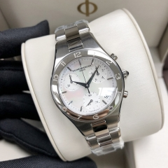 Baume & Mercier Linea 32mm Stainless Steel White Mother Of Pearl Dial Quartz MOA10012