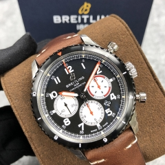 BREITLING Aviator 8 B01 Chronograph 43 Mosquito 43MM Stainless Steel Black Dial Automatic AB01194A1B1X1