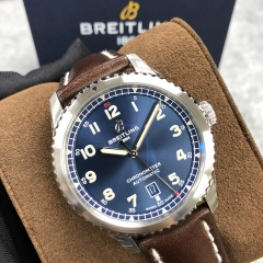 BREITLING Aviator 8  41MM Stainless Steel Blue Dial Automatic A17315101C1X3