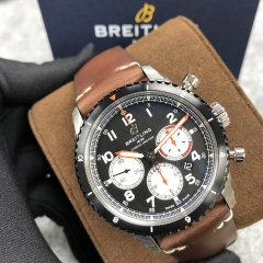 BREITLING Aviator 8 B01 Chronograph 43 Mosquito 43MM Stainless Steel Black Dial Automatic AB01194A1B1X2