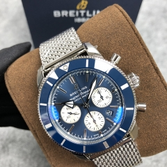 BREITLING Superocean Heritage II B01 44MM Chronograph Stainless Steel Blue Dial Automatic AB0162121C1A1