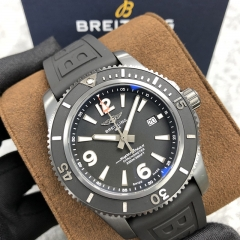 BREITLING Superocean Heritage 46MM Stainless Steel Black Dial Automatic M17368B71B1S1
