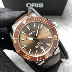 Oris Aquis 43.5mm Stainless Steel Brown Dial Automatic 01 733 7730 4152
